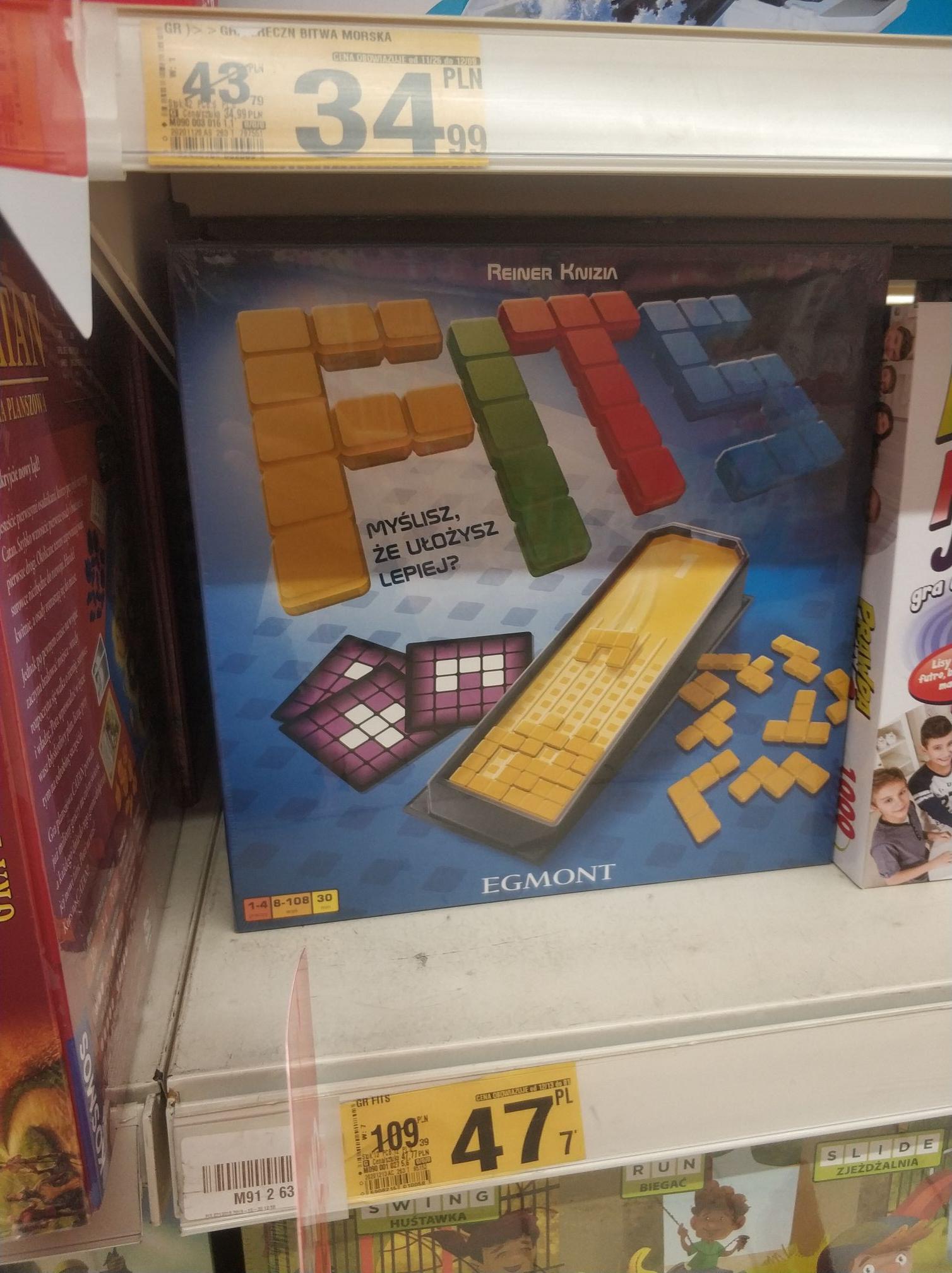 Gra planszowa Fits (taki Tetris)
