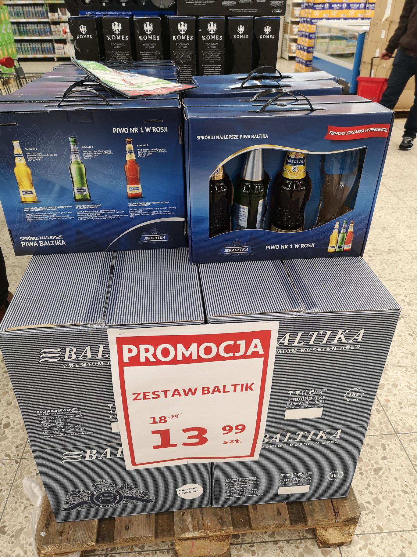Rosyjskie piwo Baltika Auchan Tychy