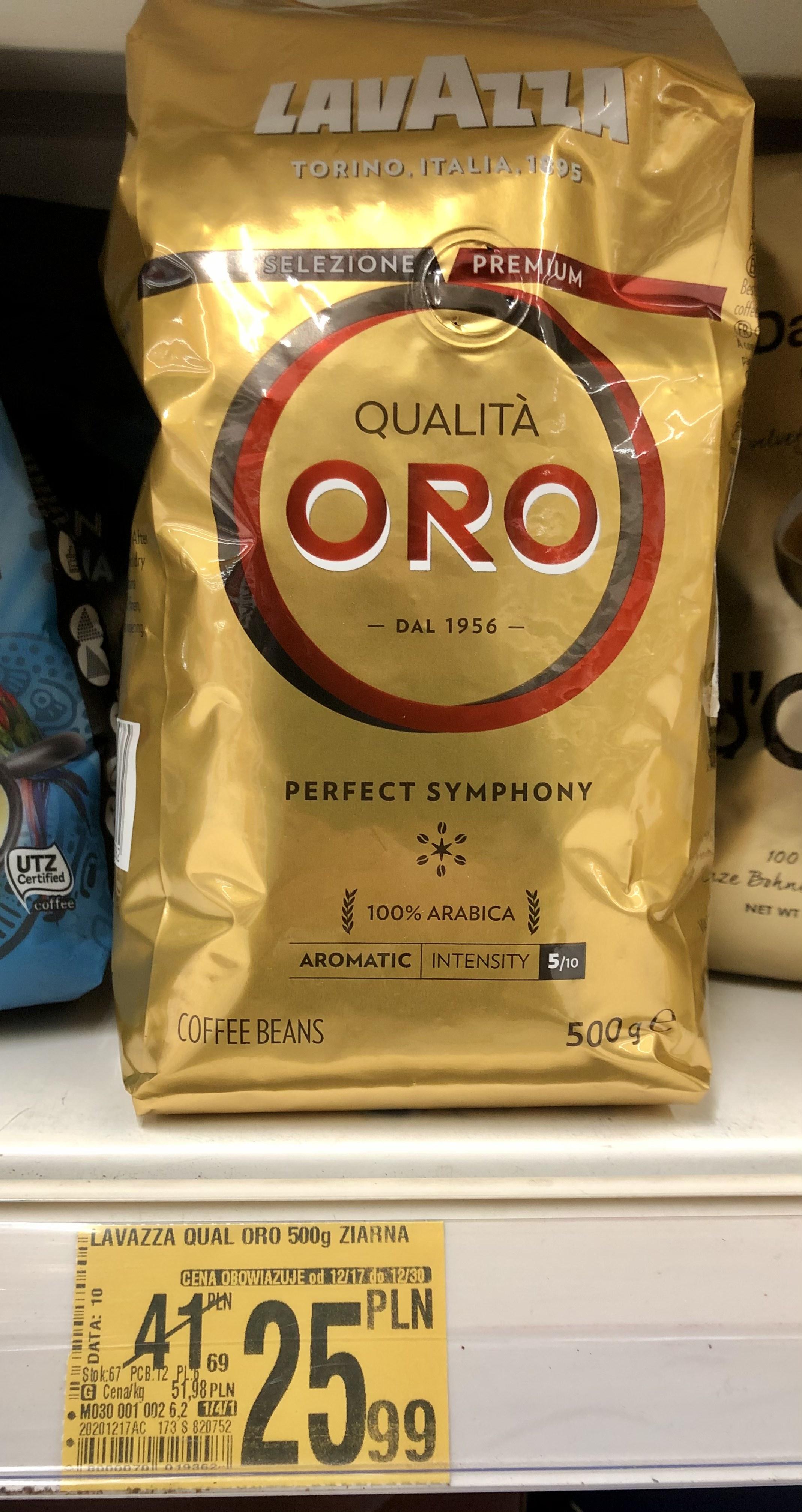Kawa Lavazza Qualita Oro 0,5kg w dobrej cenie.