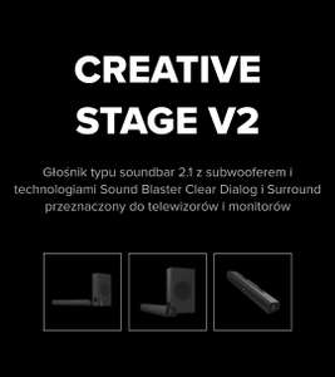 Creative Stage 2.1 V2 plus gratis BT-W3