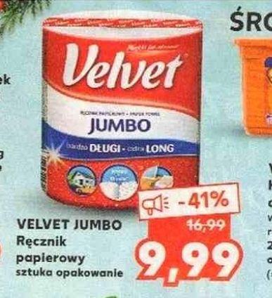 Ręcznik papierowy Velvet Jumbo za 9,99 zł w Kauflandzie