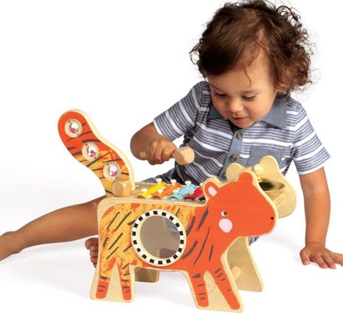 Kostka edukacyjna Tygrys Manhattan Toy, instrumenty dla dzieci