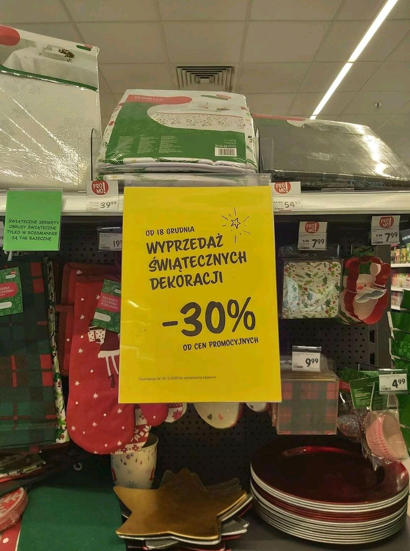 W rossmanie łącznie 50 procent rabatu na dekoracje świąteczne