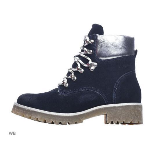 Skórzane buty damskie S.OLIVER na zimę, dostępne dwa kolory