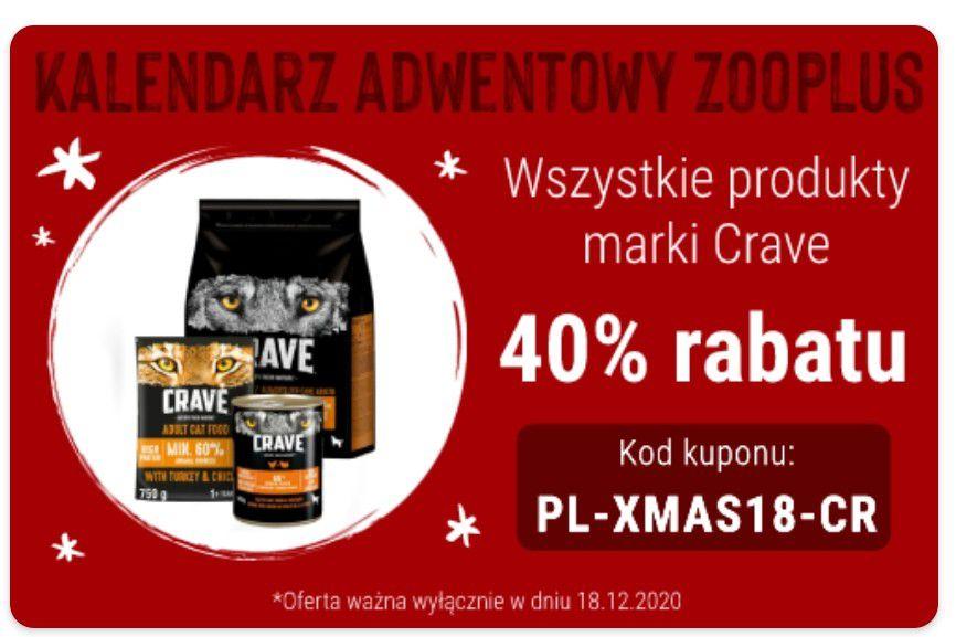 Wszystkie produkty marki Crave 40% rabatu ZooPlus