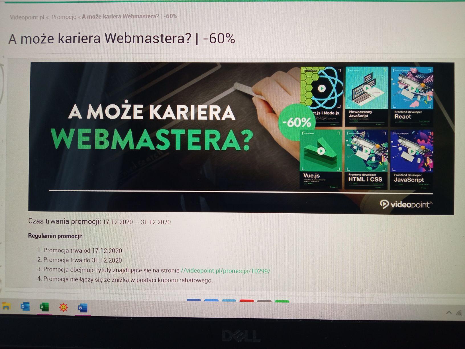 Kursy dla webmasterów za -60%