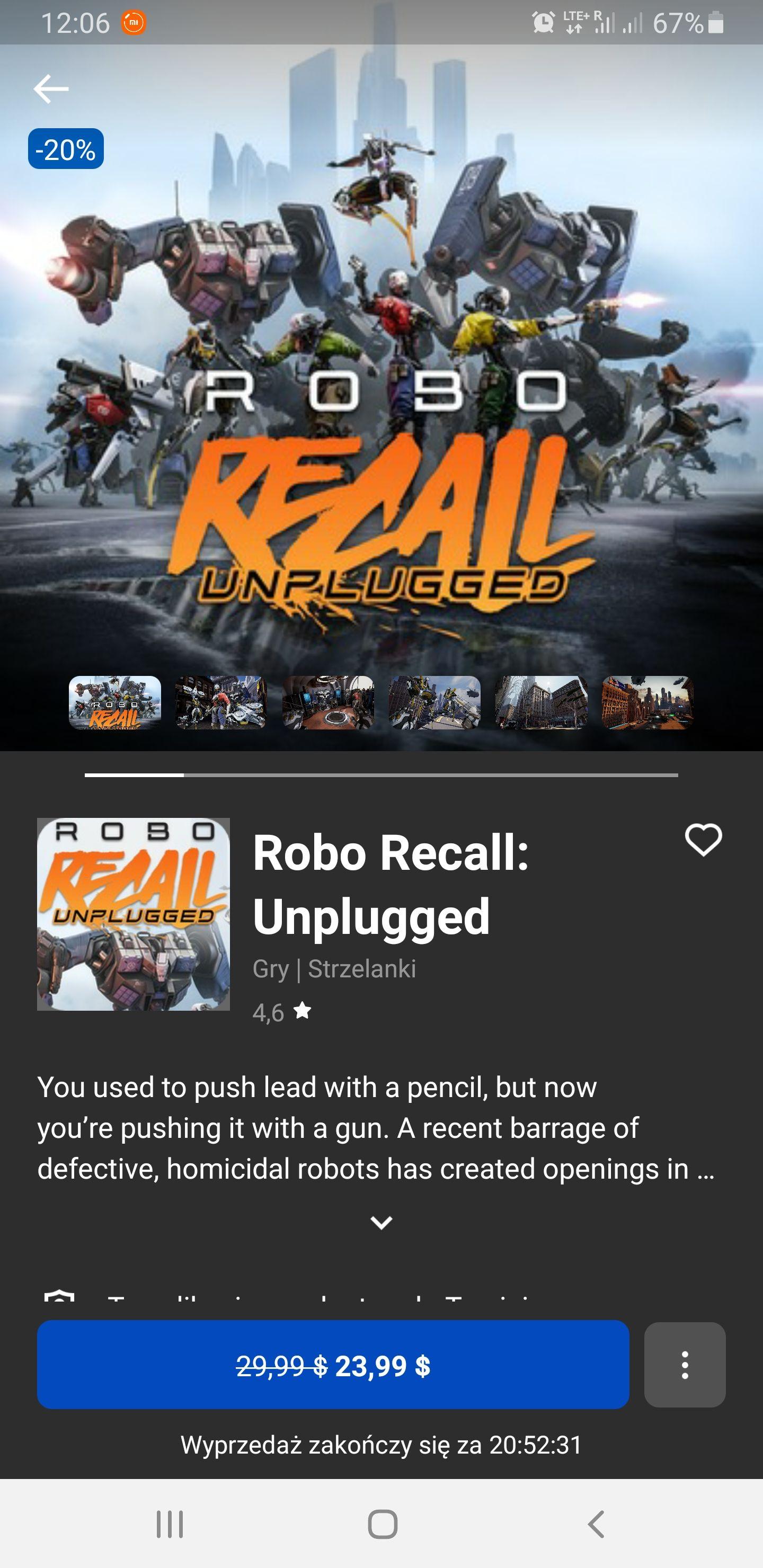 Robo recall: Unplugged na Questa i rifta -20%