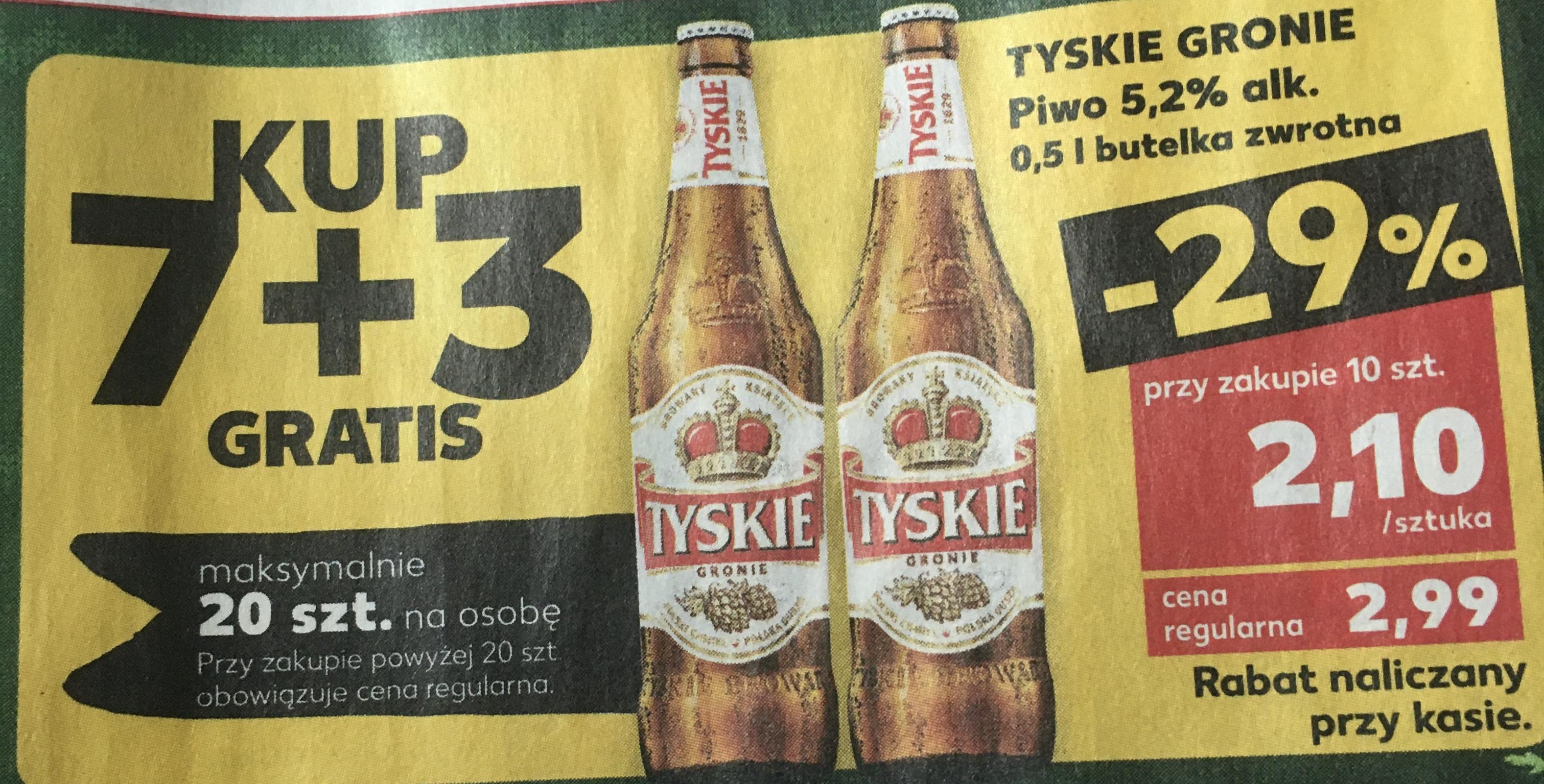 Kaufland piwo Tyskie 7+3