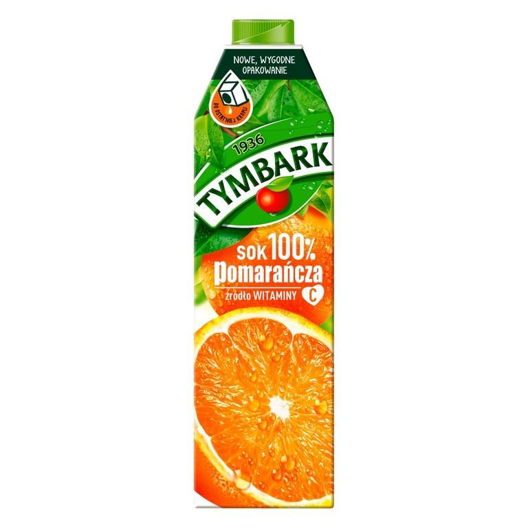 Stokrotka Sok 100% 1L pomarańczowy tymbark