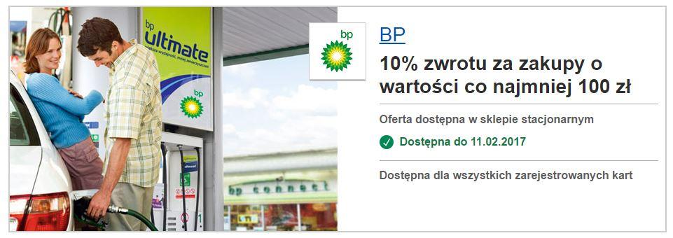 Visa Oferty daje 10% zwrotu przy wydaniu co najmniej 100 zł na stacji paliw BP