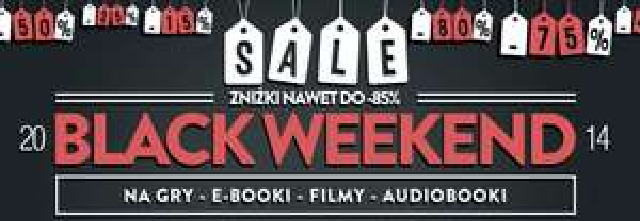 BLACK WEEKEND (Gry, E-booki, Filmy, Audiobooki - zniżki nawet do -85%) @ cdp.pl