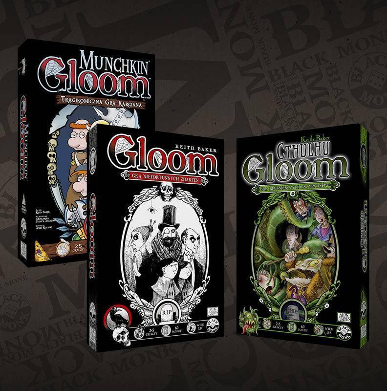 Black Monk gra Zestaw: Gloom + Gloom Cthulhu + Munchkin Gloom
