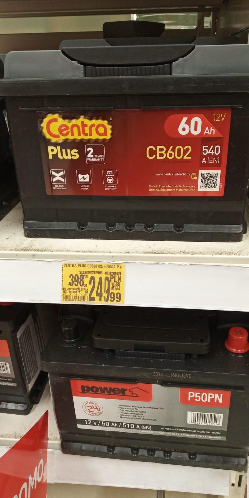 Akumulator Centra Plus CB602 60Ah-540A