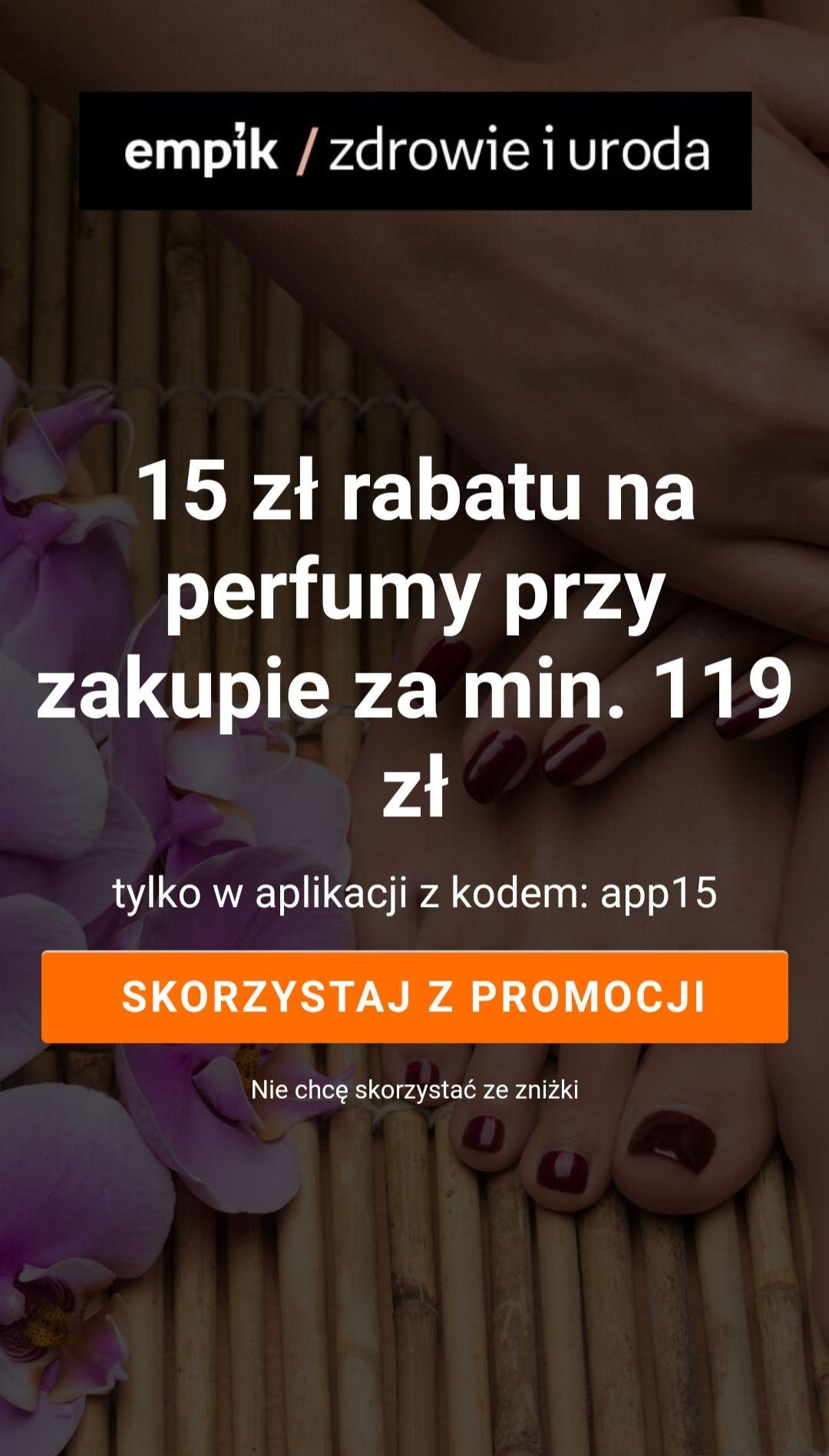 Empik -15 zł na perfumy przy zamówieniu za 119 zł