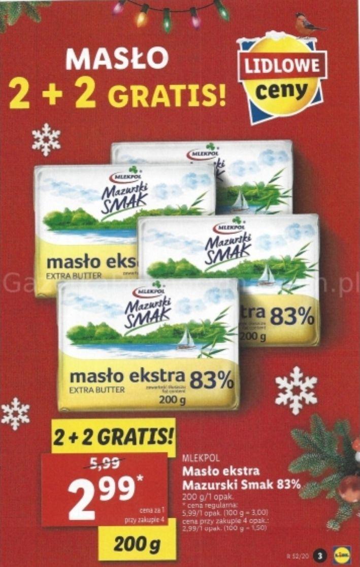 Masło Mazurski Smak 2+2 gratis - Lidl