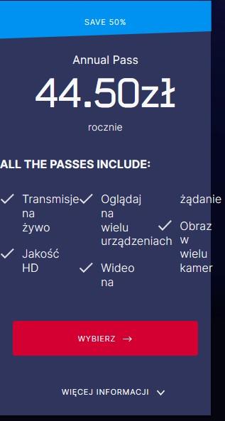 Eurosport Player 13 miesięcy za 59,50 zł zamiast 104 zł