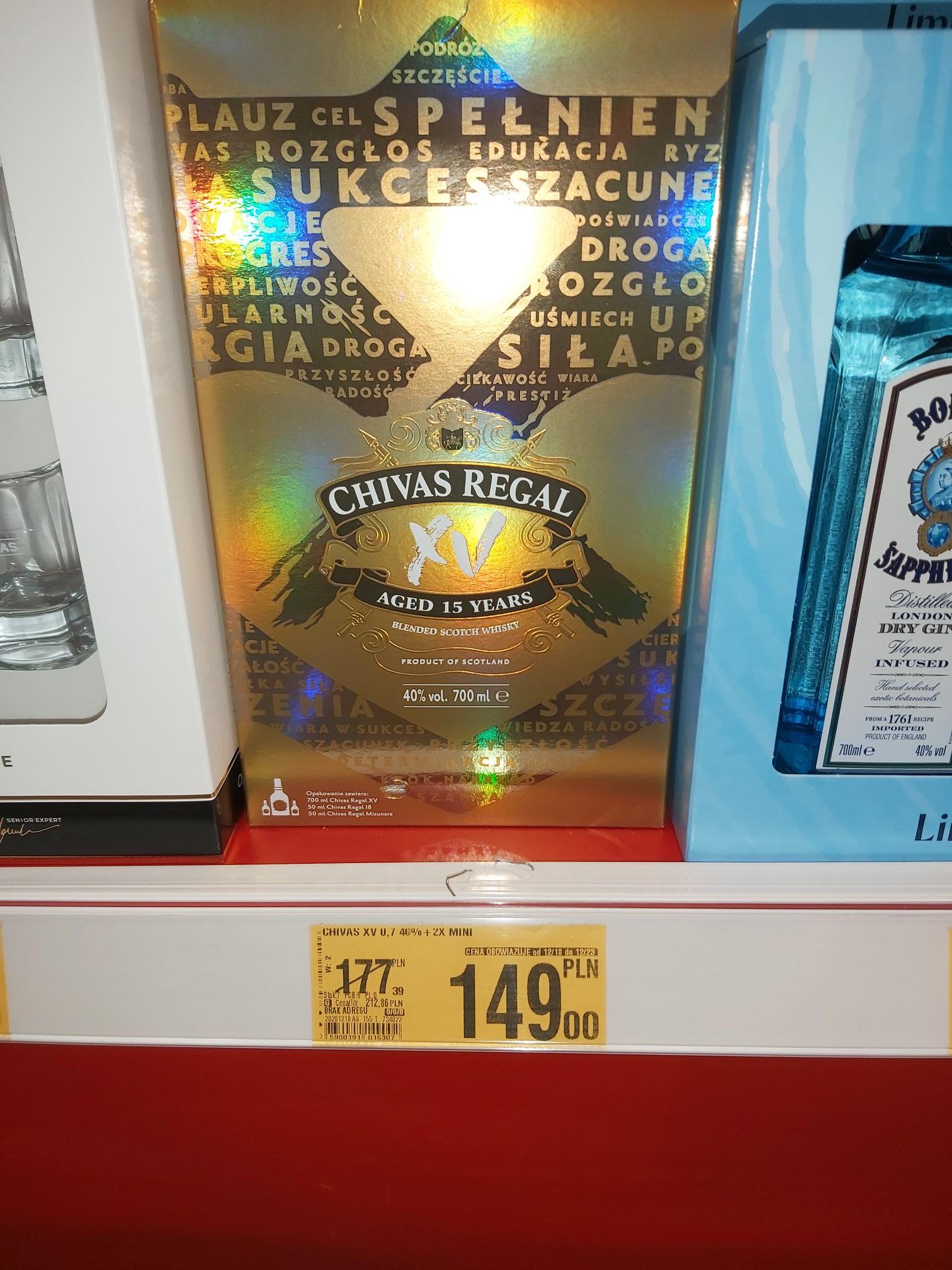Chivas Regal XV whisky 700ml + 2x 50ml AUCHAN