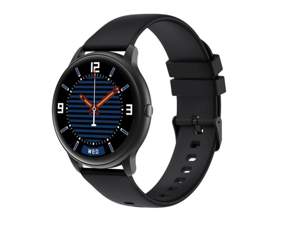 Smartwatch zegarek sportowy IMILAB KW66 czarny i zielony