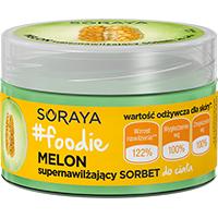 Outlet kosmetyczny - Soraya #FOODIE MELON Nawilżający sorbet do ciała 200ml