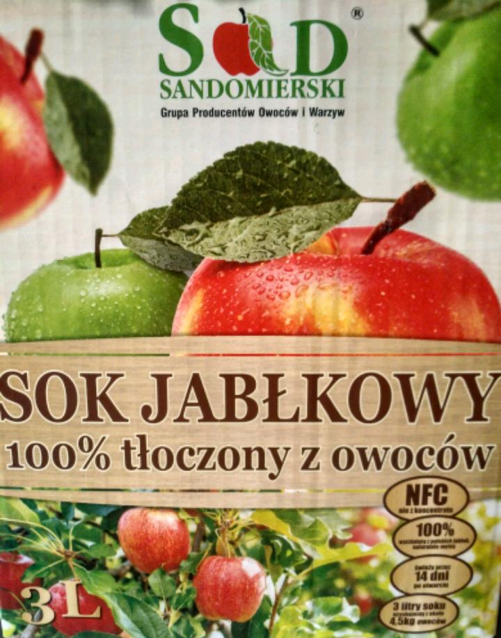 Sok jabłkowy 100 % tłoczony 3L @ Lewiatan