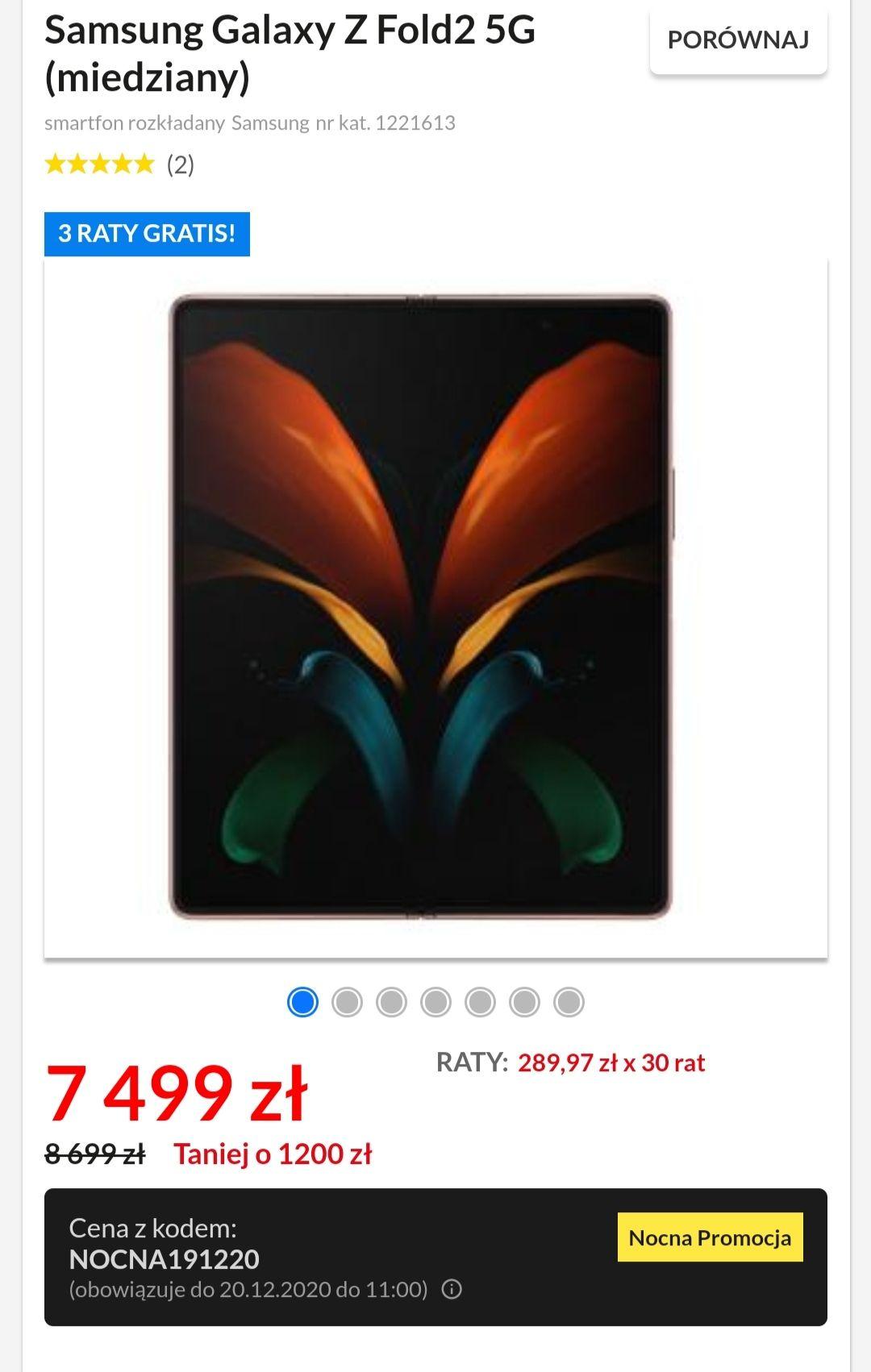 Samsung Galaxy Z Fold2 5G (miedziany)