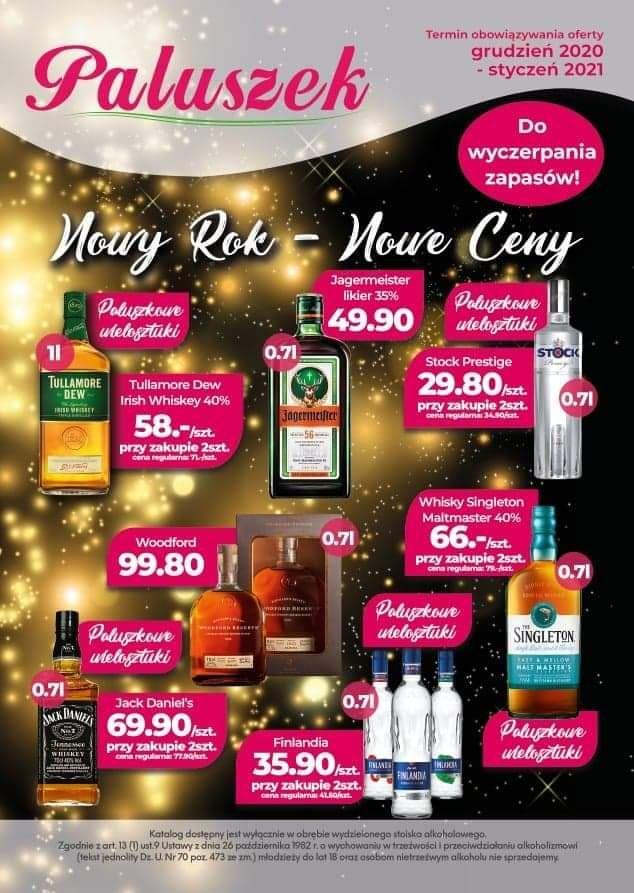 TULLAMORE DEW 1l 58zl cena za sztukę przy zakupie dwóch - sieć sklepów Paluszek whisky whiskey