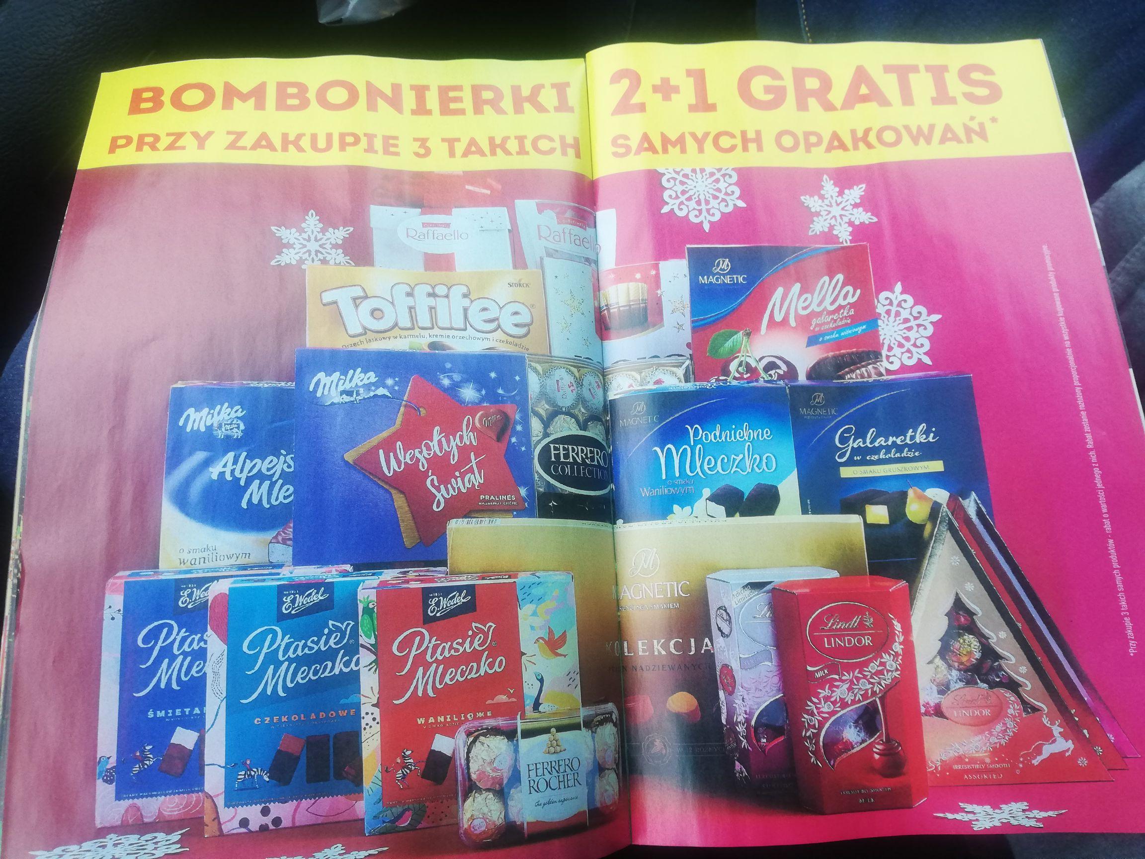 Bombonierki 2+1 gratis Biedronka