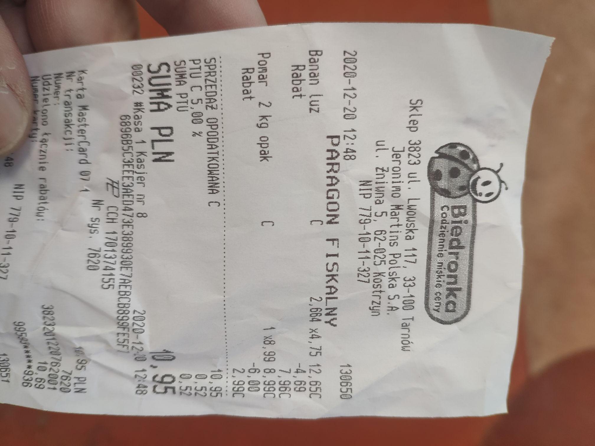 Pomarańcze 2kg za 2.99zł (1,50 zł/kg) Biedronka