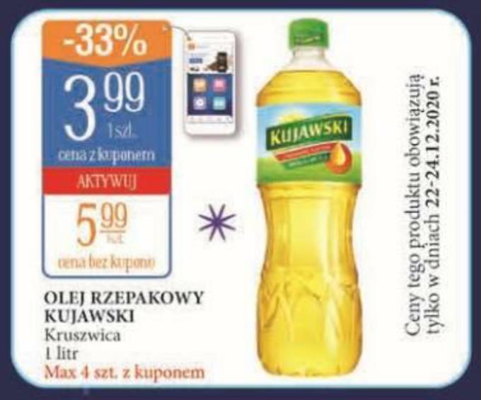 Olej Kujawski 1l za 3,99zł. Leclerc