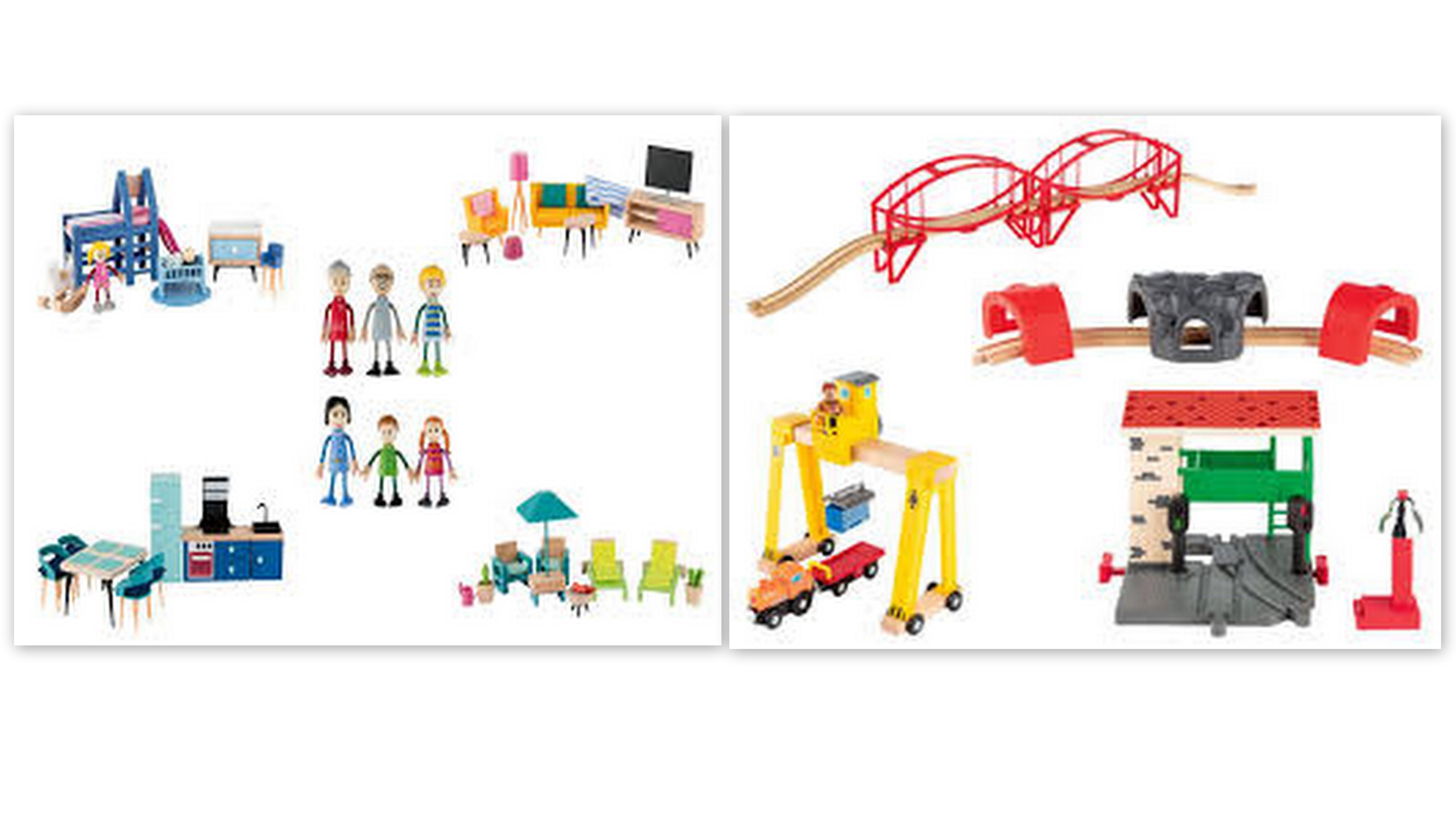 PLAYTIVE® zabawki drewniane Lidl stacjonarnie mebelki, akcesoria do kolejki i inne