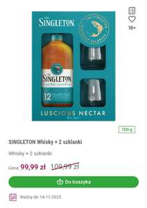 Whisky Singleton 12 + 2 szklanki Frisco