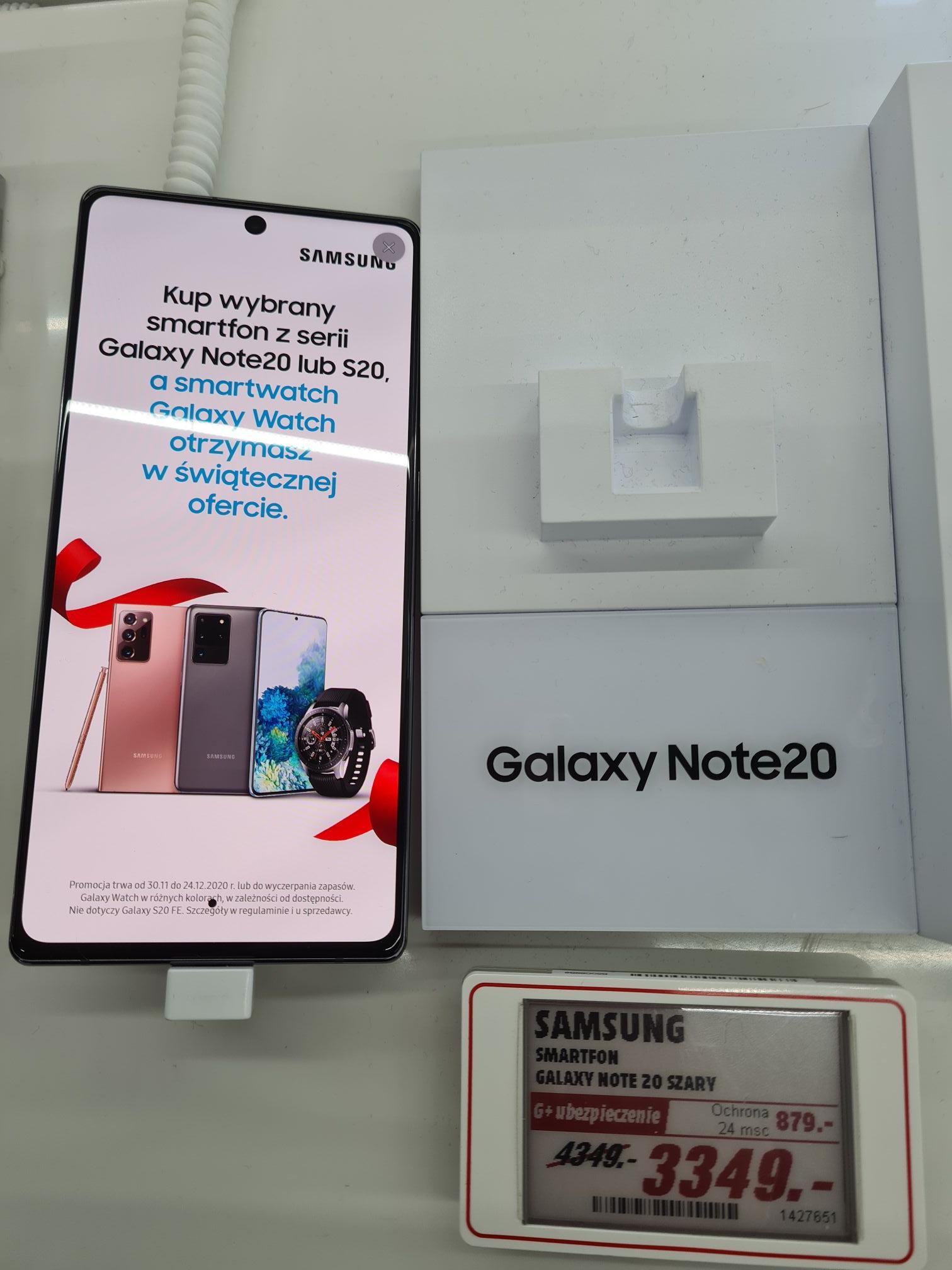 Samsung Galaxy Note 20 + Galaxy Watch + 300 zł w bonach