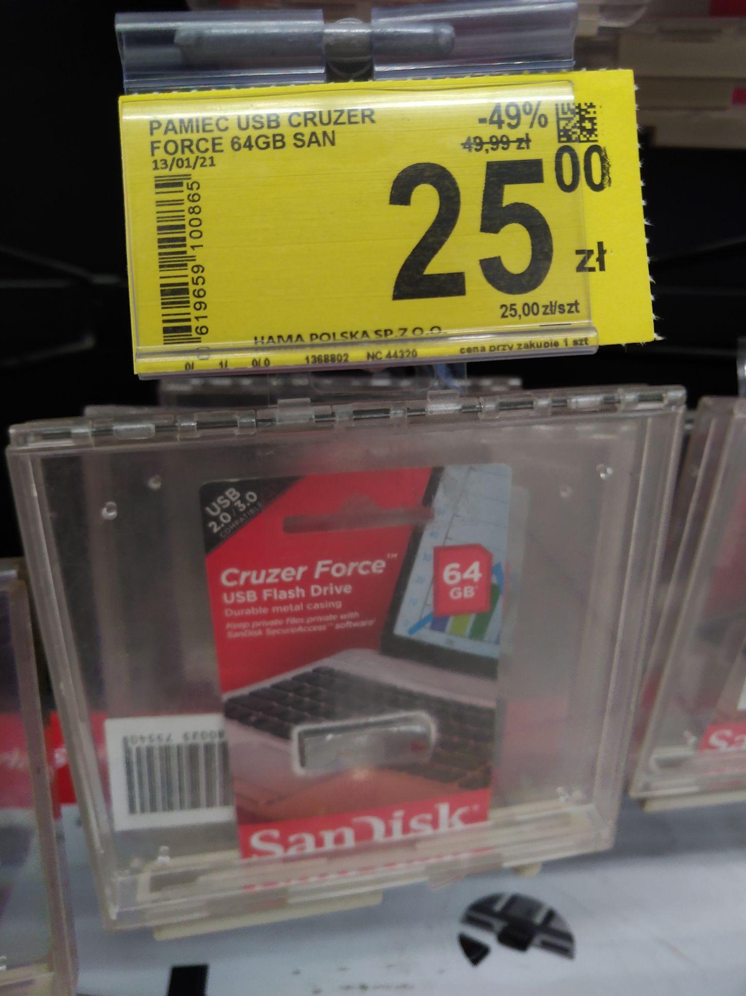 Sandisk Cruzer Force 64 GB i inne