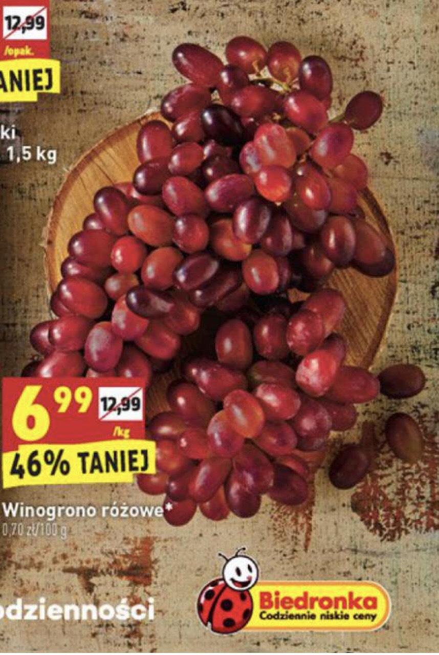 Winogrono różowe 1kg - Biedronka
