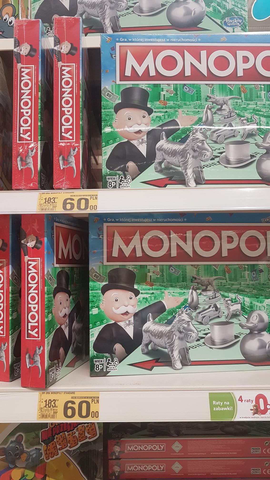 Klasyczna wersja gry Monopoly. Auchan Mikołów