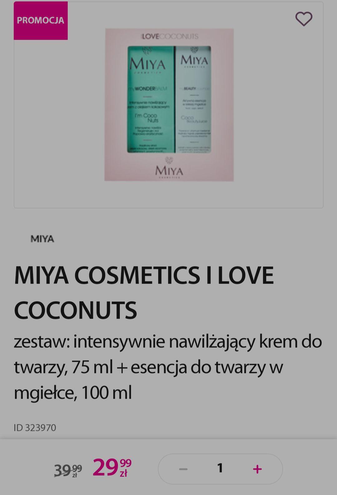 Zestaw Miya Cosmetics I love coconut w Hebe