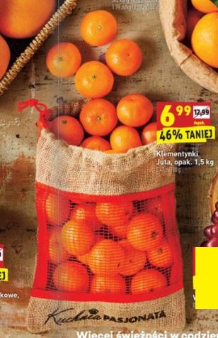 Klementynki 1,5 kg za 6,99 w Biedronce