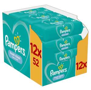 Pampers Fresh clean 12x52 szt