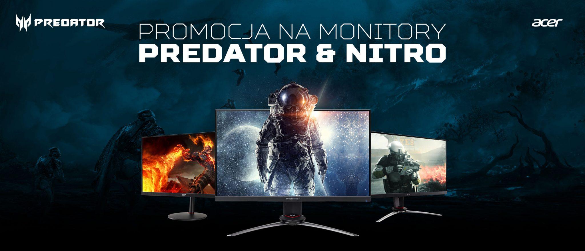Kup wybrany model monitora PREDATOR lub NITRO i odbierz kod o wartości do 300 zł do wydania przez płatność PAYSAFECARD