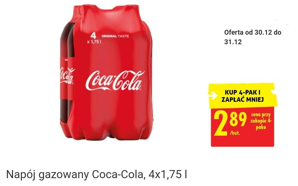 Kup 4pak Coca Cola 1.75l i zapłać 2.89zł/but - Biedronka