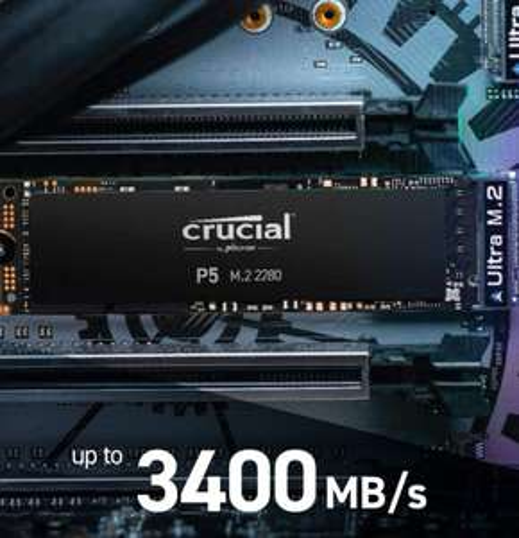 Dysk SSD Crucial P5 500GB M.2 PCIe NVMe.