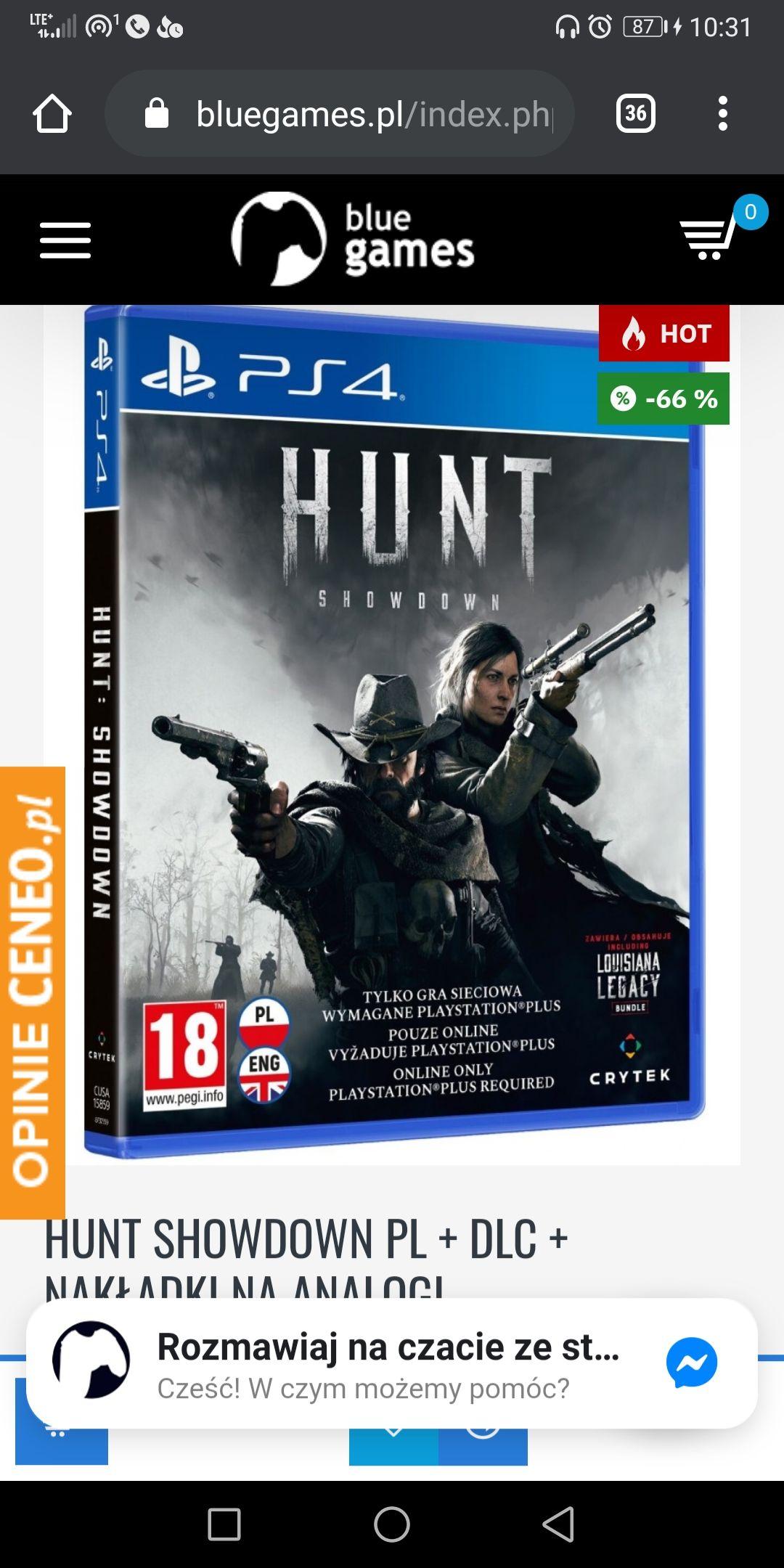 Hunt Showdown PL + DLC + nakładki na analogi PS4
