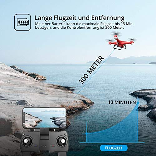 Dron (quadrocopter) Eanling HS110G, GPS, 13 minut lotu, FPV, +/-250m zasięgu (Niemiecki amazon, 59,49 euro, cena z vat i dostawą)