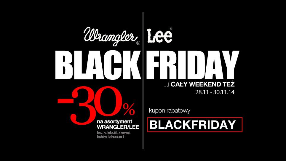 Tylko w ten weekend -30% na asortyment Wrangler i Lee @ Jeans24h