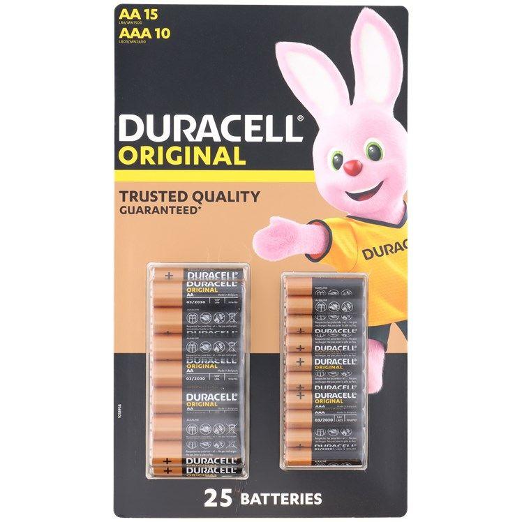 Baterie Duracell AA/AAA 25 sztuk @action