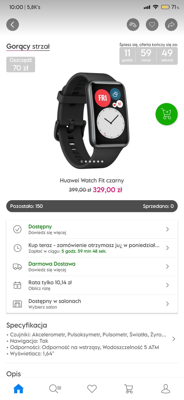 SmartWatch Huawei Watch Fit Gorący Strzał x-kom