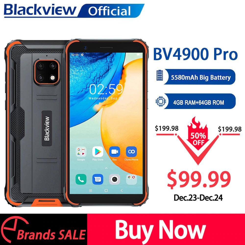 Smartfon Blackview BV4900 Pro (IP68, 4/64GB, NFC, 5580mAh) + inne modele z wysyłką z Europy @ AliExpress