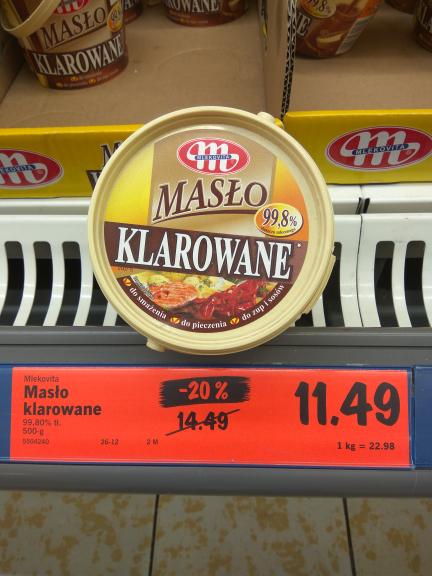 Masło klarowane - 20% 11.49 zł @ Lidl