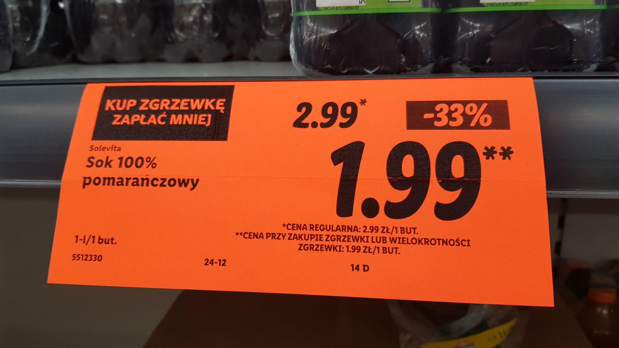 Sok pomarańczowy 1l przy zakupie 6