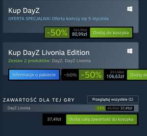 DayZ Livonia + DayZ steam Winter sale